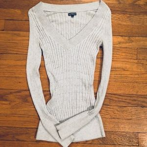Express V-Neck Fitted Sweater